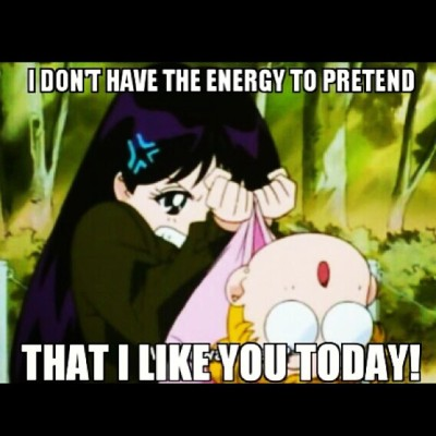 Pretty much how I feel today. #sailormoon #dontbotherme #notasinglefuckgiventoday #meh