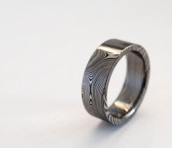 Damascus steel ring from Phil Poirer