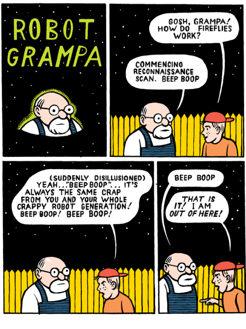 youareinfinity:  mkupperman:  Robot Grampa.  michael kupperman has a tumblr! raddical