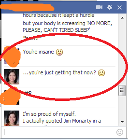 I am so proud of myself. I quoted Jim Moriarty in a conversation. Achievement unlocked!