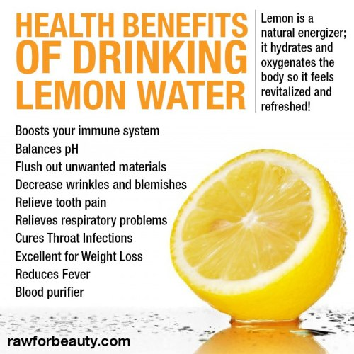 veganmovement2012:  Lemon in water is prime when you 1st wake up