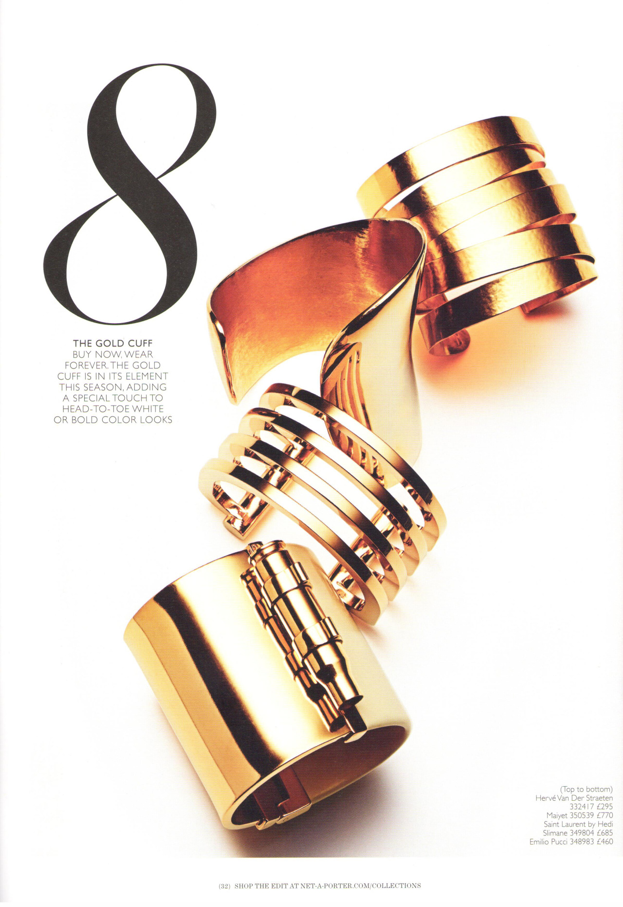 Maiyet Asymmetrical cuff featured in the February 2013 issue of of The Edit (UK)