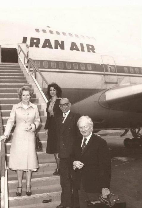 Margaret Thatcher in Tehran (circa 1970's)