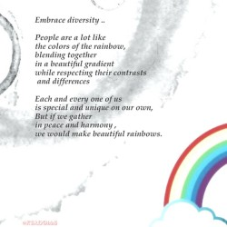 #Tranquil_Tuesday…By me #quote #text #diversity #wise #words #color #art #humanity #tranquility  #equality #sky #rainbow #design #people #Phonto