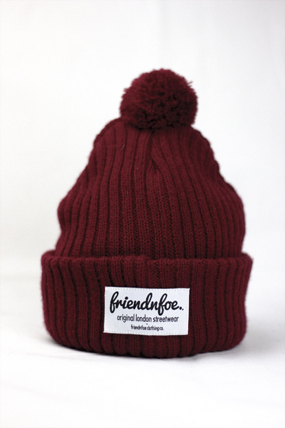 friendnfoeapparel:  Bobble hats available in out online store: www.friendnfoe.com …these are comfy as fuck.
