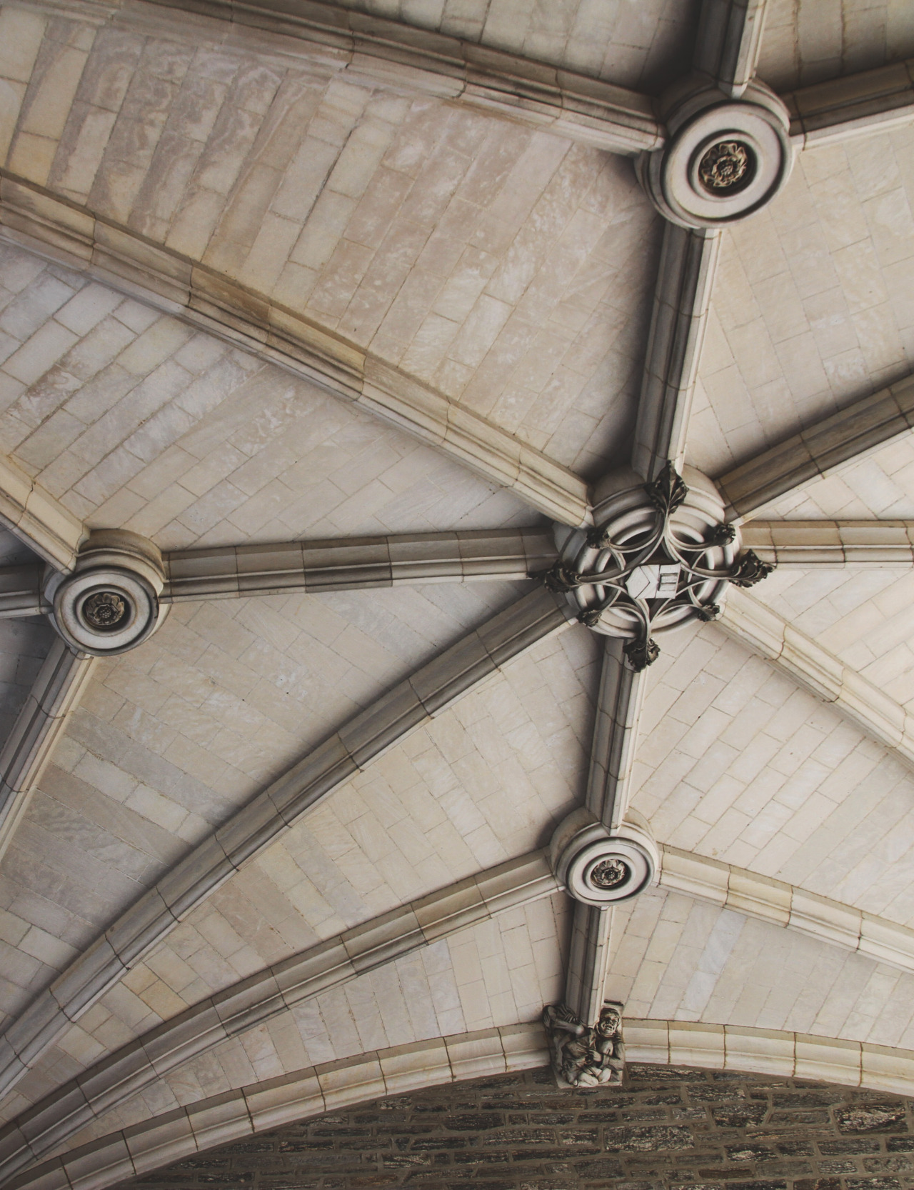 A vaulted ceiling in Yale, Connecticut, taken by me