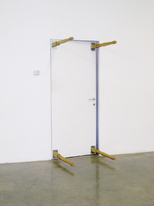 mitjaissick:  Ingo Gerken door as table / table as door, 2009