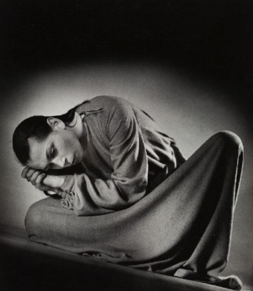 Portrait of German dancer Marianne Vogelsan by Siegfried Enkelmann, c1954.
