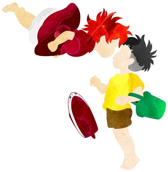 leiawars:  Bigger image of my Ponyo and Sosuke I made using high resolution scans of my watercolors. Available in my Society6 shop with free worldwide shipping through Sunday March 31st at 11:59 pm PST. http://society6.com/foreverwars  In case you missed this last night.
