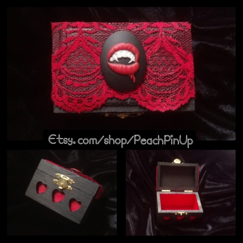 $14 Red Lace Vampire Box by PeachPinUp