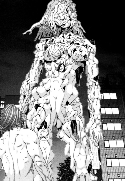 fumettierotici:  sadgyaru:  my kind of evening  Gantz by Hiroya Oku