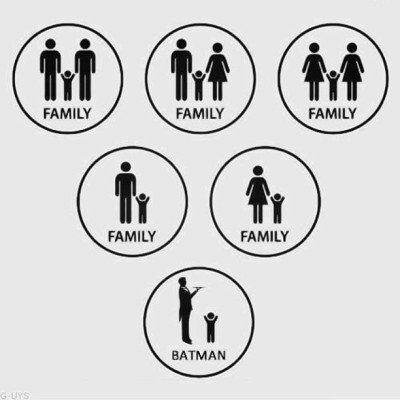 oriieeaiko:  #family #batman #gayrights #gay #bi #lesbian #iphonestagram #igdaily #igers #instadaily #picoftheday #pictureoftheday #photooftheday #cute #love #lovestagram #cutestagram  So true
