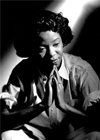 Sarah Vaughan in New York City, 1948. Photo: Herman Leonard via the Morrison Hotel Gallery.