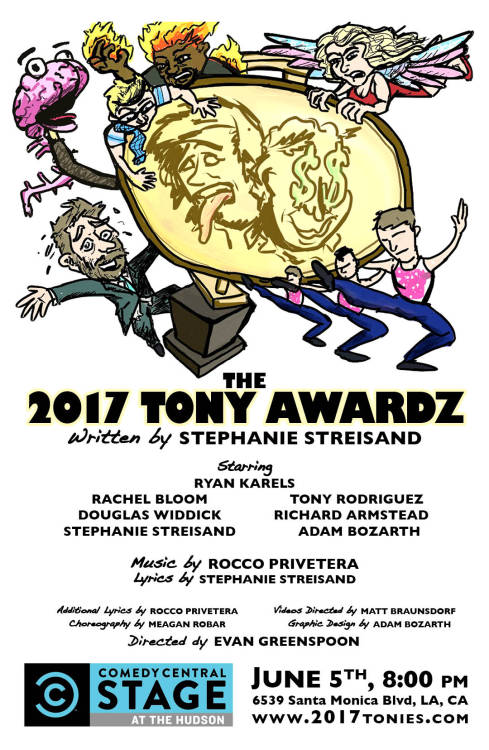 Stephanie commissioned me to do a new poster for the 2017 Tony Awardz in Los Angeles!!! Whoo! And now that I'm all ready to get out there, I realize I would like to pay off my travel bills. If you'd like posters, postcards, illustrations, graphic design or anything, e-mail me! Check out my portfolio to see my other work.