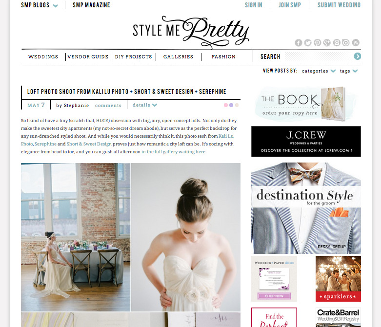 Featured on Style Me Pretty today!