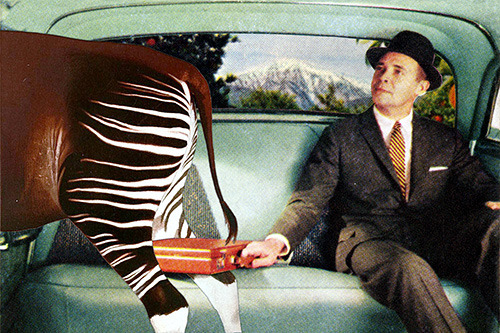 """Shared Cab"" by Eugenia Loli  Follow the artist: Tumblr 