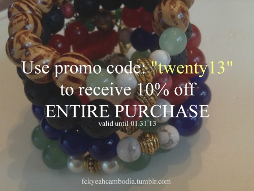 LAST DAY!! 10% off AND FREE SHIPPING! :) http://shopfckyeahcambodia.storenvy.com