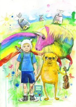 xombiedirge:  Adventure Time by Lora Zombie.