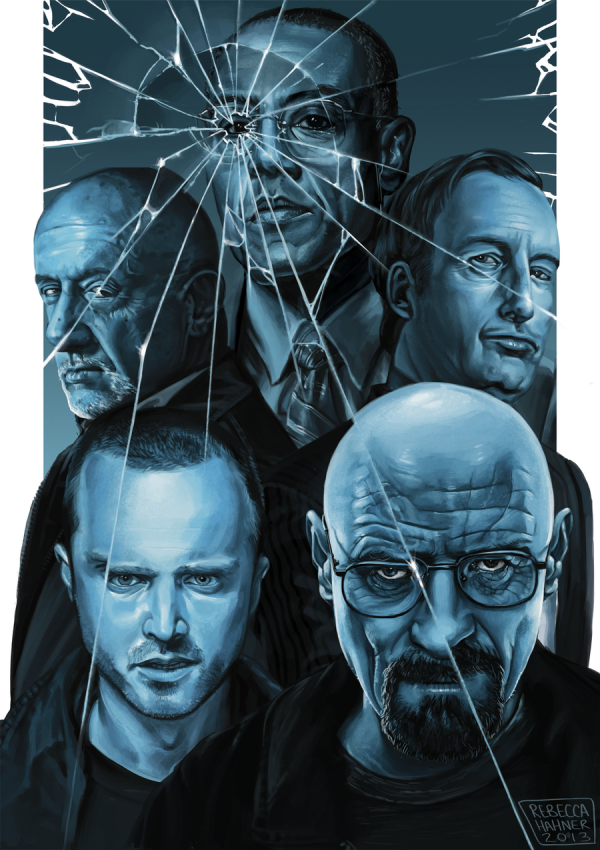 Sky Blue - Breaking Bad Art by Rebecca Hahner