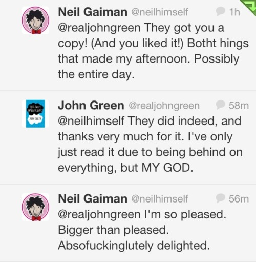 neil-gaiman:  assemblethehobbits:  This had made my day!!  Mine too.