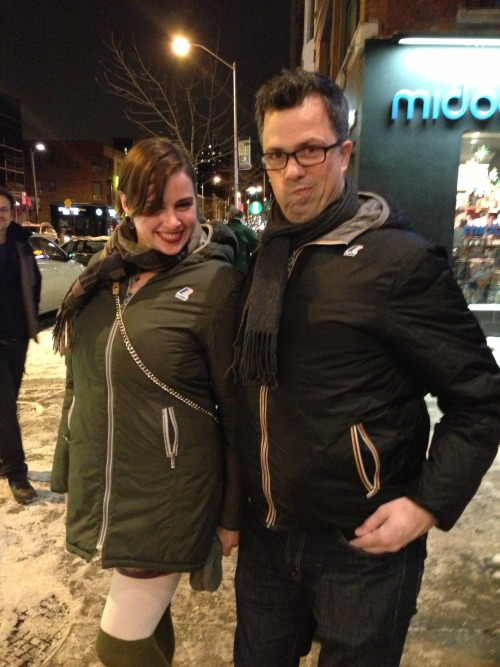 dailybez:  A CANADIAN I FOUND IN TORONTO WE ARE WEARING MATCHING K-WAYS  CRACKLING SEXUAL ENERGY.