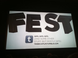… and on the big screen.  Tribeca Film Festival