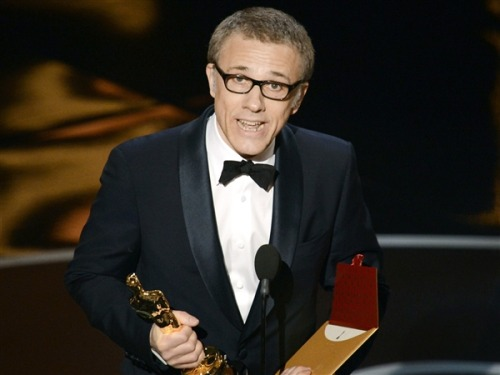 "Christoph Waltz wins first Oscar of the night (Photo: Kevin Winter / Getty Images) Edit — With some of the night's major awards still far from locks, the Oscars kicked off in Los Angeles Sunday night, with Christoph Waltz taking home the first statuette of the night for his role in ""Django Unchained.""  Waltz was considered a favorite, though Tommy Lee Jones of ""Lincoln"" was also a major contender. Read the complete story."