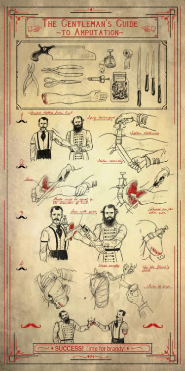 success Brandy amputation gentleman gentleman style mostache 1900s retro cheers toast doctor pacient tutorial