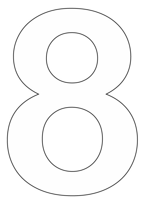 Number 8 Coloring Page