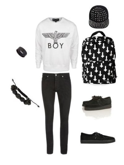 ihatethewayyousmile: i made this on Polyvore. I think it is a goth pastel look. :)