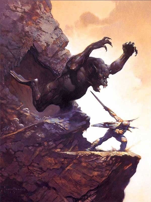 bearded-rage:  Illus. Frank Frazetta *More beards, battles, and beauties at bearded-rage.tumblr.com!