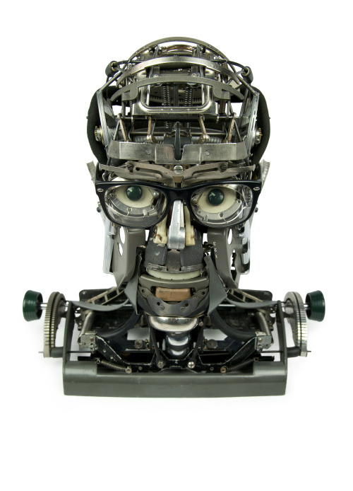 "Portrait of Marvyn A. Pelzner Jeremy Mayer 2013 Typewriter parts 16""x8""x15""(41cm x20cm x38cm)"