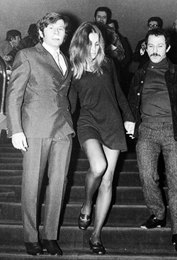 Sharon Tate and Roman Polanski at the Paris premiere of The Fearless Vampire Killers (1967). Photos by Jean Claude Deutsch