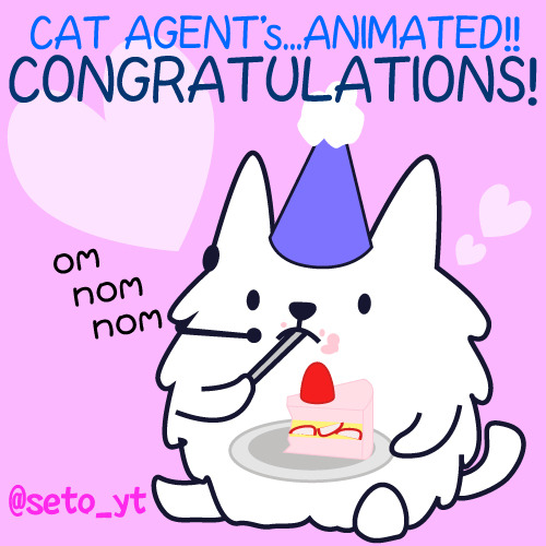 More Cat Agent Fan Art! Thanks @seto_yt!