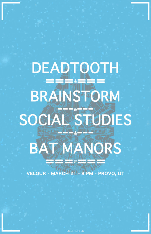 Deadtooth, Brainstorm, Social Studies, Bat Manors, 2013 (Velour Live)