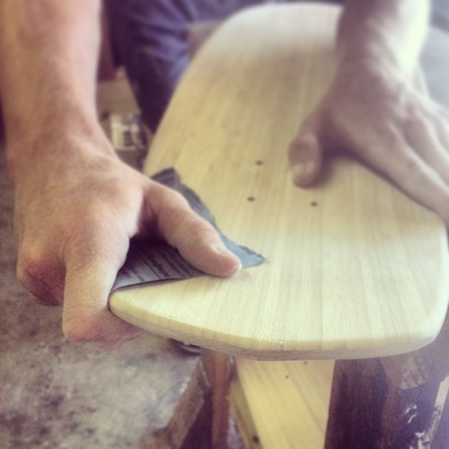 Taking shape. www.naturallogskate.com #naturallogskateboards
