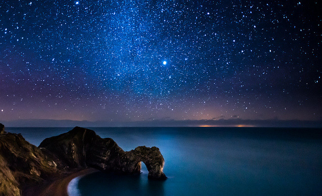 Milky Way Above Durdle Door by DorsetScouser on Flickr.