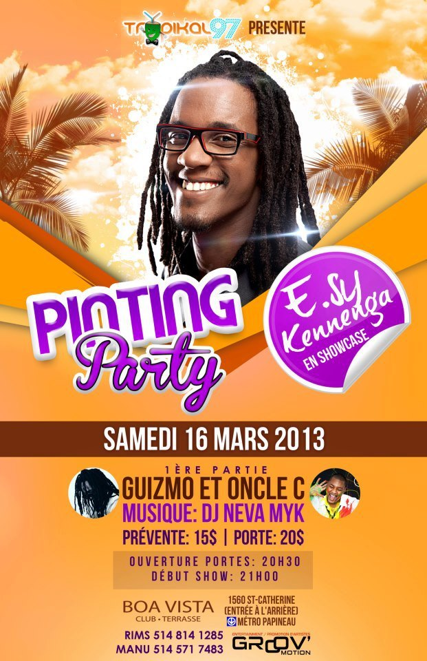 Je couvrirai le prochain concert de E.sy Kennenga en ville! Très hâte d'y être. _________________________________________________________________ Will be covering E.sy Kennenga's next concert in town! Excited!