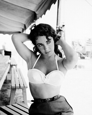 vintagegal:  Elizabeth Taylor on the set of Giant, photographed by Frank Worth, 1955