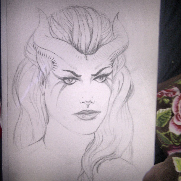 #dota #dota2 #drawing #drawn #sketch #Queen #of #pain #queenofpain #hero #art #artwork #evil #sucabus