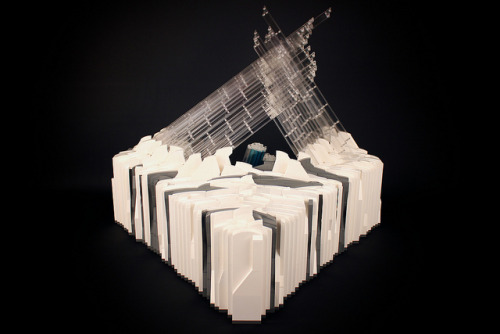 Custom LEGO Fortress of Solitude by ZeeMasterBrick - well this is fun/awesome.  click through for more detailed pics! via FBTB