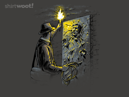 Epic Indiana Jones - Han Solo Mashup T-Shirt I almost missed this one. It's available for a few more hours today over at Shirt WootView Post