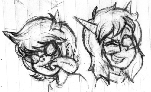 Terezi and Latula doodles. I swear i'm going to do something with all of these