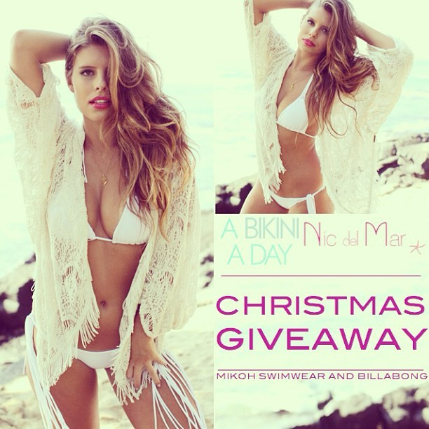 It's the last day of our Christmas giveaway, be sure to enter today! We have teamed up with Miami retailer Nic Del Mar to give our lovely followers a chance to win this amazing MIKOH bikini and Billabong cover up! To enter 1. Like/ Follow @abikiniaday & @nicdelmar on Facebook/ Instagram. 2. Spread the Christmas cheer by reposting this photo and hash tagging #ABAD! Good luck, can't wait for one lucky winner to receive a Christmas present from us! (Winner announced 12/17, profile must be public to enter) 🎄 @tashoakley & @devin_brugman X #giveaway #christmas #holidays