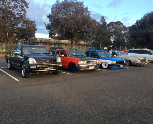 Squad in roof height order on Sunday just gone. #Bagged #bodied #minitruck #minitruckin #minitruckinmagazine #airbag #airsuspension #onsills #onsillsdotcom #lowered #truckin #pickup #bas1c #dut #mmtruckin #accuairsuspension #accuair #cadillac