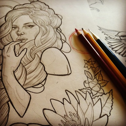 wendyortizart:  A small peek of a super top secret collaboration in the works.