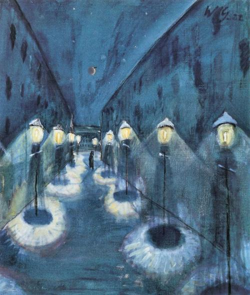Night road, 1922,Walter Gramatté. (German Expressionist Painter (1897 - 1929)