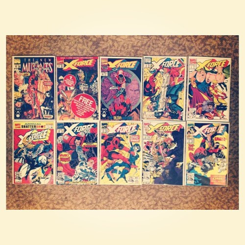 #deadpool apperances 1, 2, 3, 4, 5, 6, 7, 8, 10,  &11. #newmutants #xforce #marvel #comics #instagram
