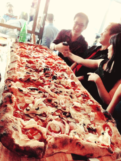 One metre pizza in Criniti's Darling Harbour.