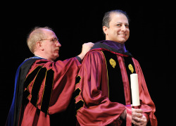 Preet Bharara (and his pretty eyes) received an honorary degree at Fordham Law's graduation, yesterday (May 19.)